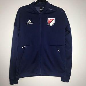 Adidas MLS Soccer Blue Zipper Pocket Jacket